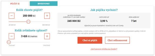 Online kalkulačka od Zonky.cz