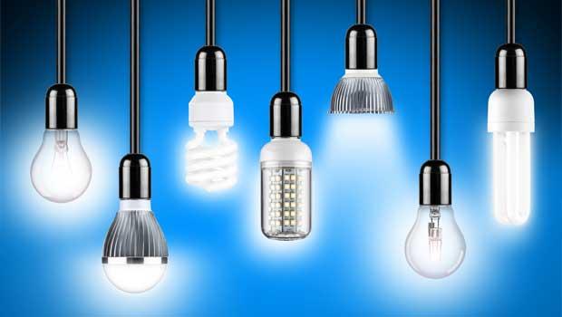 Několik typů LED žárovek
